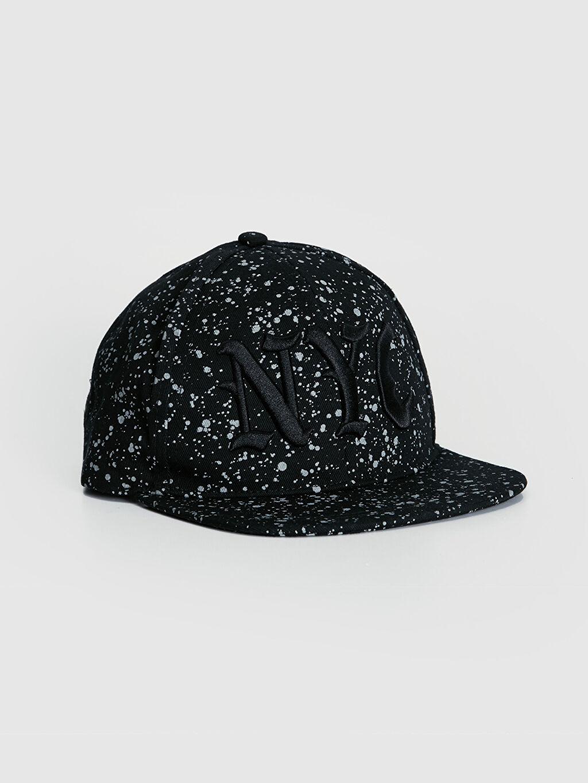 Siyah Erkek Çocuk Nakışlı Hip Hop Şapka 9W1629Z4 LC Waikiki