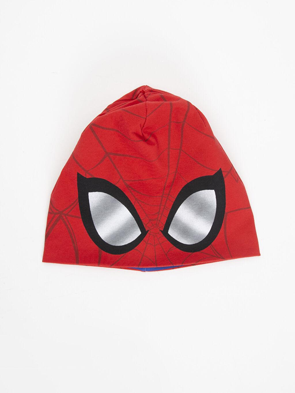 Kırmızı Erkek Çocuk Spiderman Baskılı Pamuklu Bere 9W1674Z4 LC Waikiki