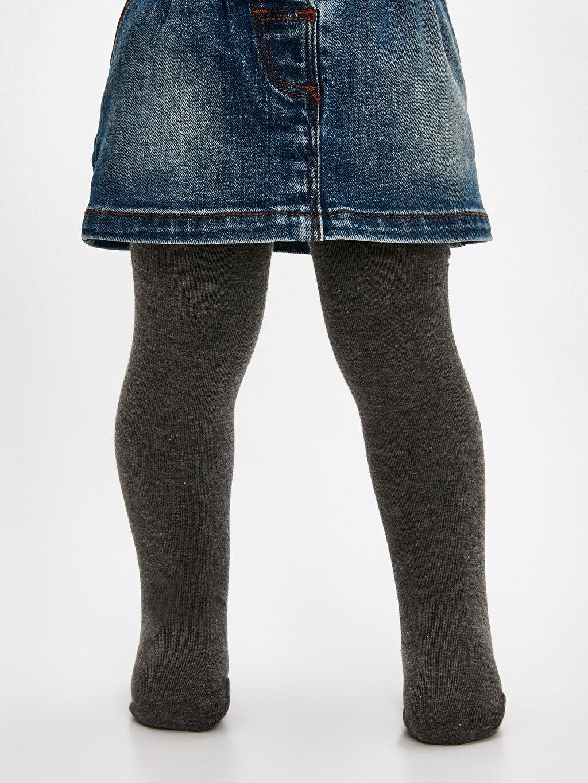 %58 Pamuk %22 Poliester %18 Poliamid %2 Elastane Günlük Orta Kalınlık Külotlu Çorap Kız Çocuk Külotlu Çorap