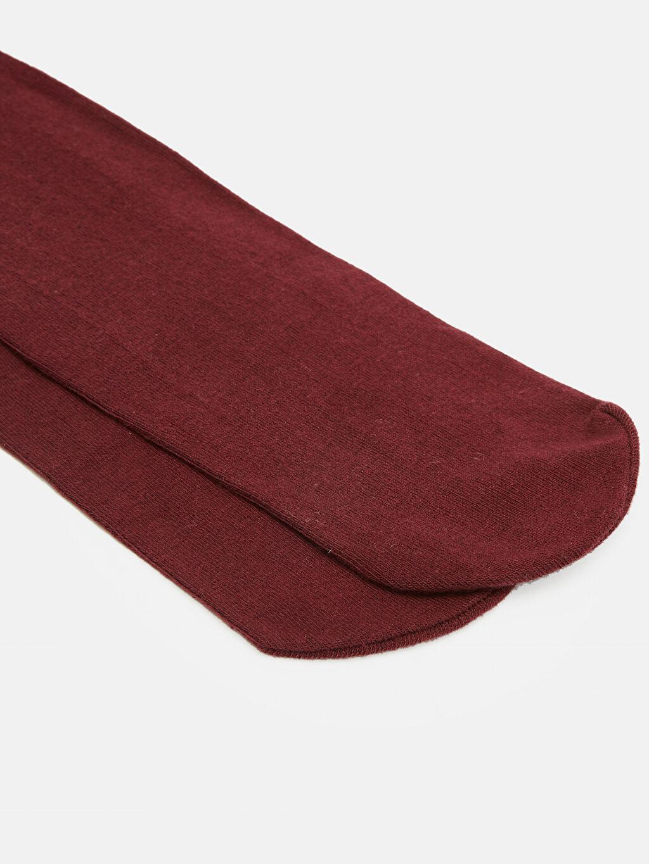 %80 Pamuk %18 Poliamid %2 Elastan Günlük Orta Kalınlık Külotlu Çorap Kız Çocuk Külotlu Çorap