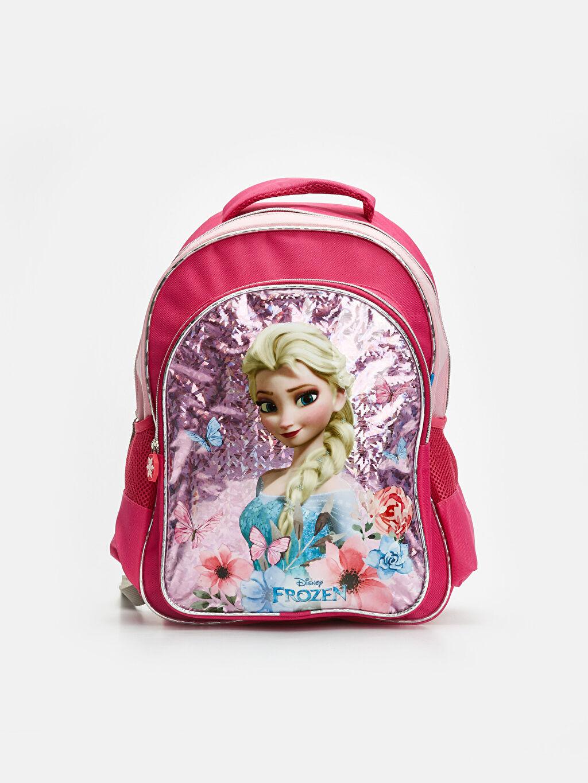 Pembe Kız Çocuk Frozen Elsa Sırt Çantası 9W2454Z4 LC Waikiki