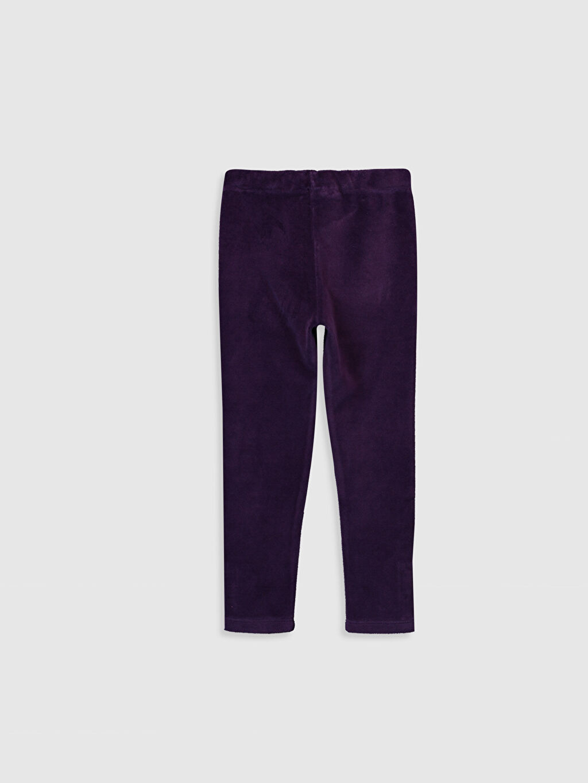 %80 Pamuk %20 Polyester  Kız Çocuk Uzun Kadife Tayt