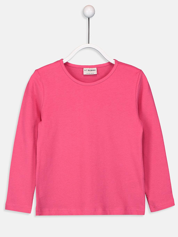 Fuşya Kız Çocuk Pamuklu Basic Tişört 9W2619Z4 LC Waikiki