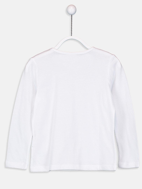 %100 Pamuk Süprem Tişört Bisiklet Yaka Uzun Kol Düz Standart Kız Çocuk Pamuklu Basic Tişört