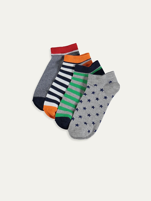 Çok Renkli Erkek Çocuk Patik Çorap 5'li 9W2679Z4 LC Waikiki