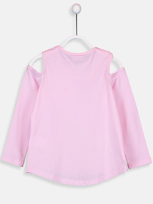 Kız Çocuk Kız Çocuk Omuzu Açık Pamuklu Tişört
