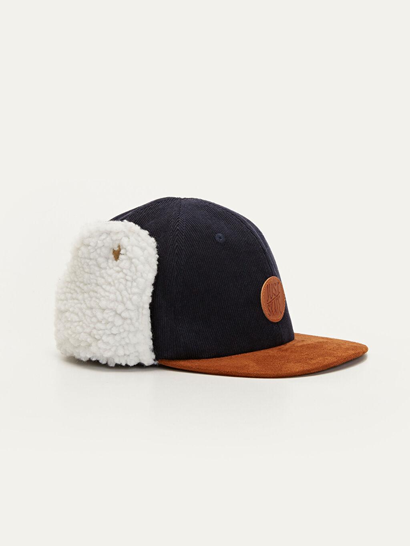Lacivert Erkek Çocuk Kulaklı Şapka 9W3501Z4 LC Waikiki