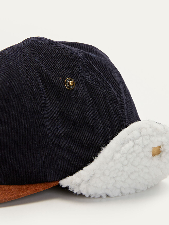 %91 Polyester %9 Elastan Erkek Çocuk Kulaklı Şapka