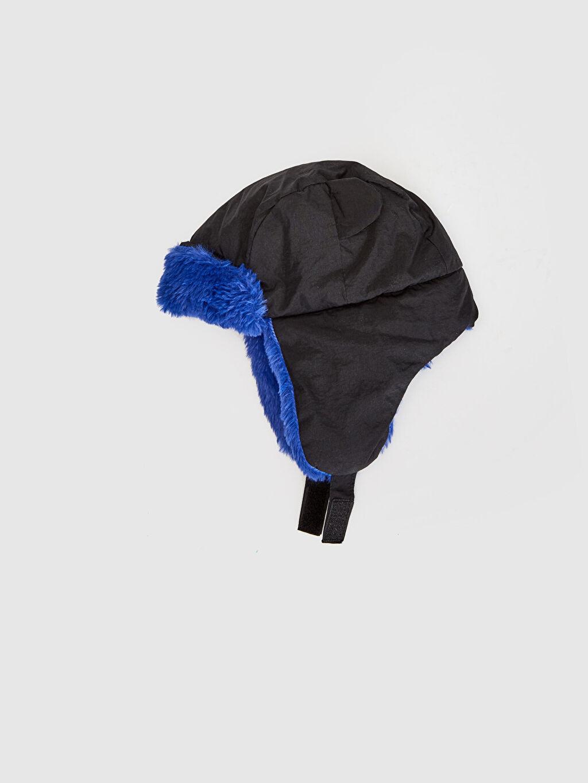 %100 Polyester %100 Pamuk  Erkek Çocuk Pelüş Astarlı Şapka