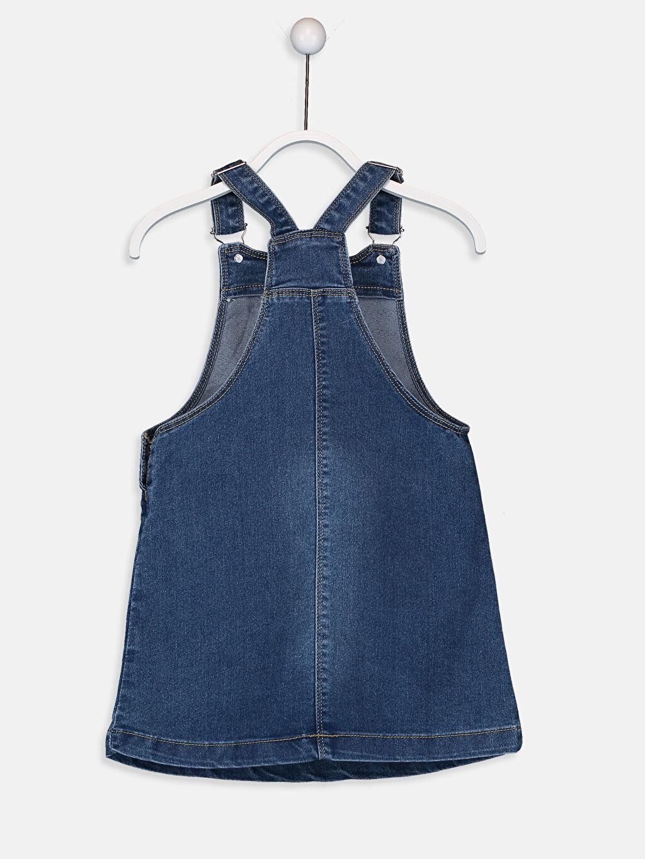 Kız Çocuk Kız Çocuk Çift Yönlü Payetli Jean Elbise