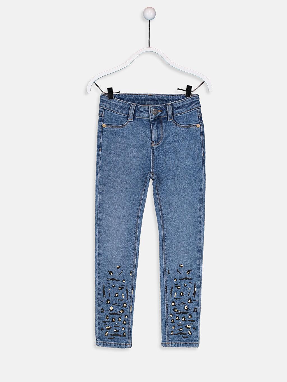 Mavi Kız Çocuk Skinny Jean Pantolon 9W4172Z4 LC Waikiki