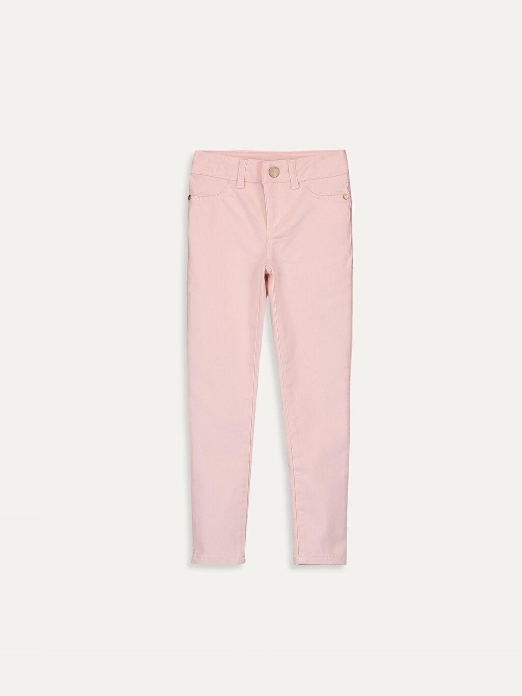 Pembe Kız Çocuk Skinny Pantolon 9W4495Z4 LC Waikiki