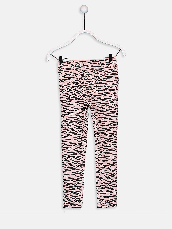 Pembe Kız Çocuk Skinny Gabardin Pantolon 9W4496Z4 LC Waikiki