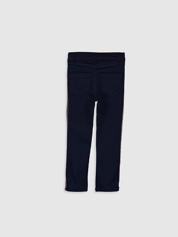 %68 Pamuk %29 Polyester %3 Elastan Pantolon Gabardin Baskılı Normal Bel Dar Kız Çocuk Slim Gabardin Pantolon