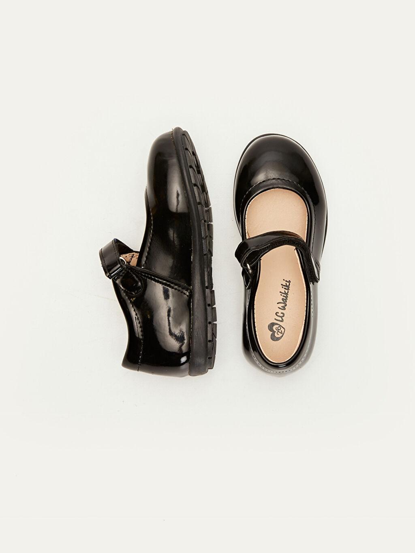 %0 Diğer malzeme (poliüretan) Cırt Cırt PU Astar Işıksız Babet Kız Çocuk Rugan Ayakkabı