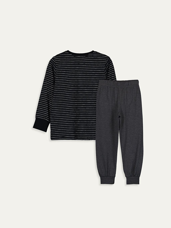%95 Pamuk %5 Polyester Standart Pijama Takım Günlük Süprem Erkek Çocuk Pamuklu Pijama Takımı