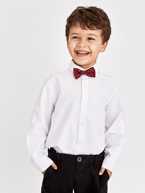 Erkek Çocuk Armürlü Gömlek ve Papyon