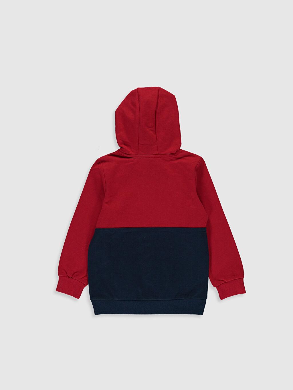 %84 Pamuk %16 Polyester Düz İki İplik İçi Tüylü Kapüşon Yaka Sweatshirt Erkek Çocuk Yazı Baskılı Sweatshirt
