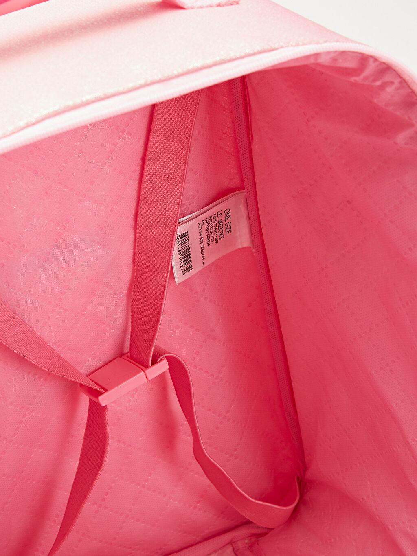 %100 Polyester Kız Çocuk Unicorn Baskılı Çekçekli Çanta
