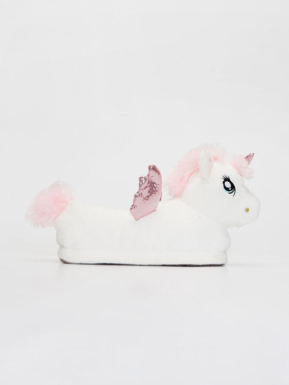 Beyaz Kız Çocuk Unicorn Ev Terliği 9WG469Z4 LC Waikiki