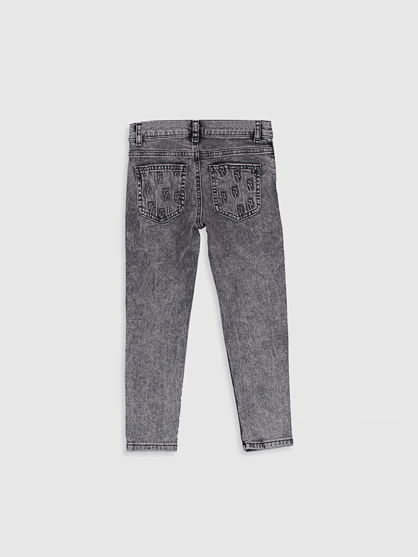 %99 Pamuk %1 Elastan Baskılı Beş Cep Aksesuarsız Normal Bel Astarsız Dar Jean Erkek Çocuk Skinny Jean Pantolon