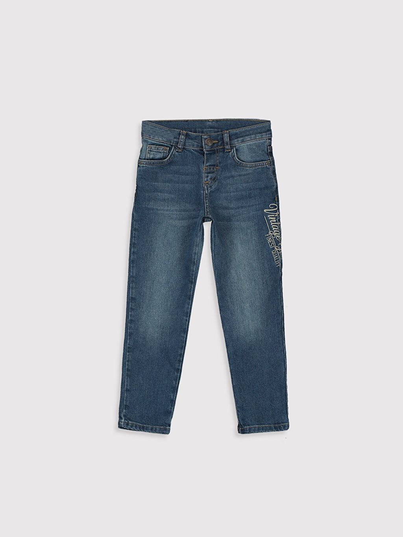 İndigo Erkek Çocuk Slim Jean Pantolon 9WG626Z4 LC Waikiki