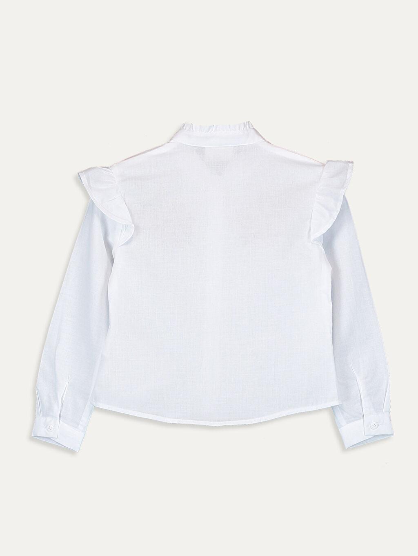 %100 Pamuk  Kız Çocuk Nakışlı Pamuklu Gömlek