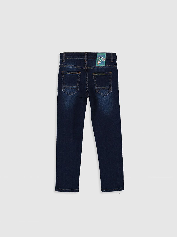 %99 Pamuk %1 Elastan Normal Bel Astarsız Dar Jean Aksesuarsız Beş Cep Düz Erkek Çocuk Slim Jean Pantolon