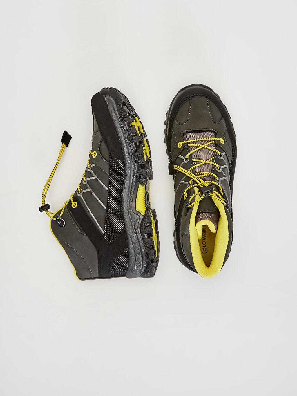 Tekstil malzemeleri Diğer malzeme (pvc) Tekstil malzemeleri Midi Penye Astar Bağcık Günlük Trekking Bot Erkek Çocuk Trekking Ayakkabı