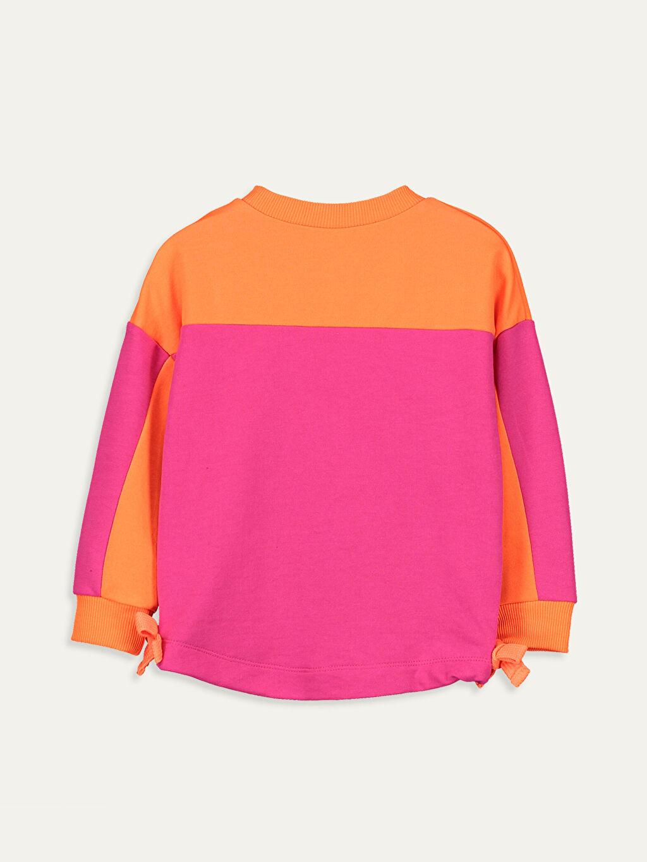 %18 Pamuk %82 Polyester  Kız Çocuk Yazı Baskılı Sweatshirt