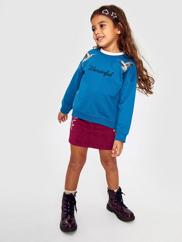 Kız Çocuk Kız Çocuk Nakışlı Sweatshirt