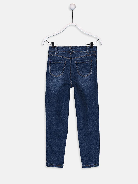 %98 Pamuk %2 Elastan Normal Bel Standart Kız Çocuk Jean Pantolon