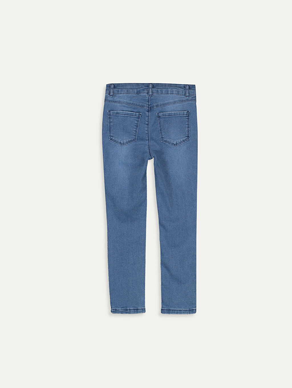 %76 Pamuk %22 Polyester %2 Elastan Skinny Jean Düz Dar Paça Aksesuarsız Normal Bel Astarsız Kız Çocuk Aplikeli Jean Pantolon