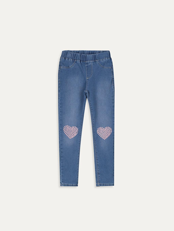 İndigo Kız Çocuk Ekstra Slim Jean Pantolon 9WH906Z4 LC Waikiki