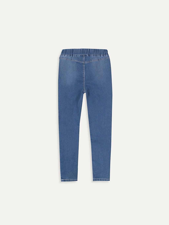 %79 Pamuk %18 Polyester %3 Elastan Dar Jean Düz Aksesuarsız Ekstra Dar Paça Normal Bel Astarsız Kız Çocuk Ekstra Slim Jean Pantolon