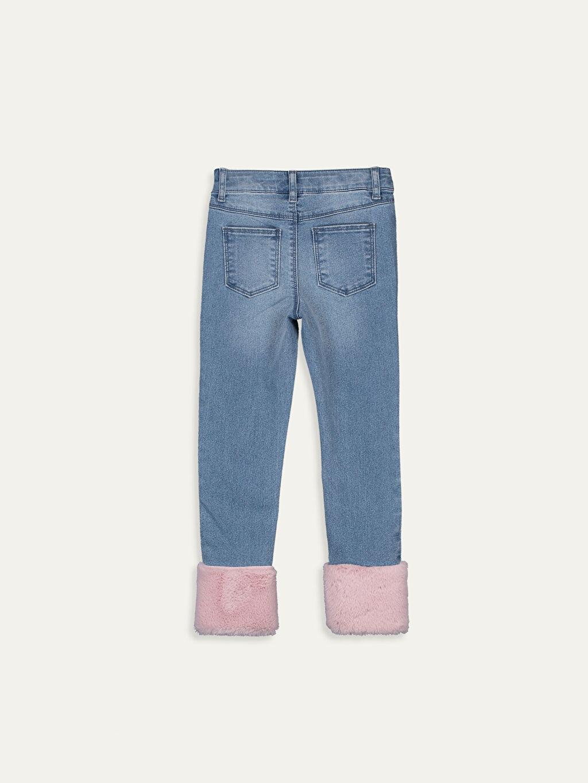 %80 Pamuk %18 Polyester %2 Elastan Dar Jean Düz Dar Paça Aksesuarsız Normal Bel Astarsız Kız Çocuk Slim Jean Pantolon