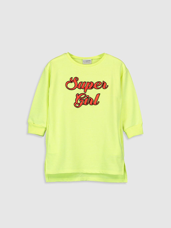 Sarı Kız Çocuk Sweatshirt Elbise 9WI054Z4 LC Waikiki