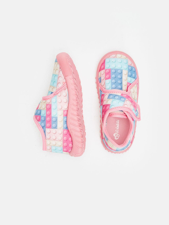 %0 Tekstil malzemeleri (%100 poliester) Polar Fermuarlı Panduf Astarsız Işıksız Kız Çocuk Ev Ayakkabısı