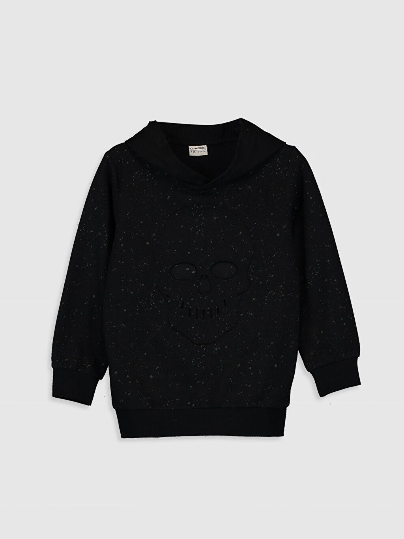 Siyah Erkek Çocuk Kapüşonlu Sweatshirt 9WJ347Z4 LC Waikiki