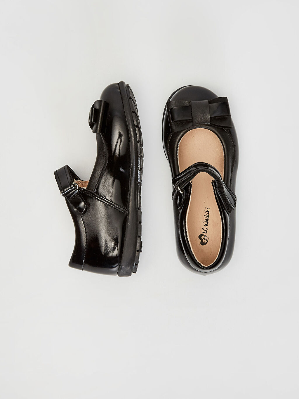 %0 Diğer malzeme (poliüretan)  Kız Çocuk Cırt Cırtlı Babet Ayakkabı