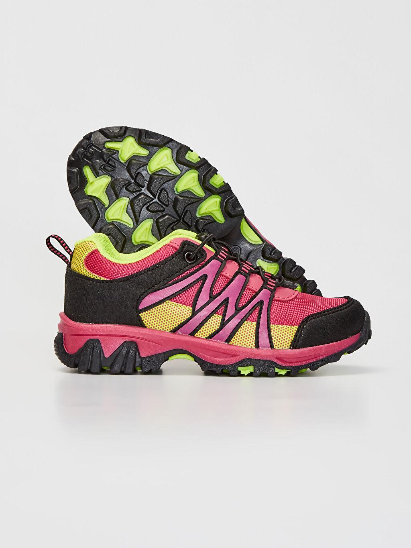 Kız Çocuk Kız Çocuk Kontrast Renkli Trekking Ayakkabı
