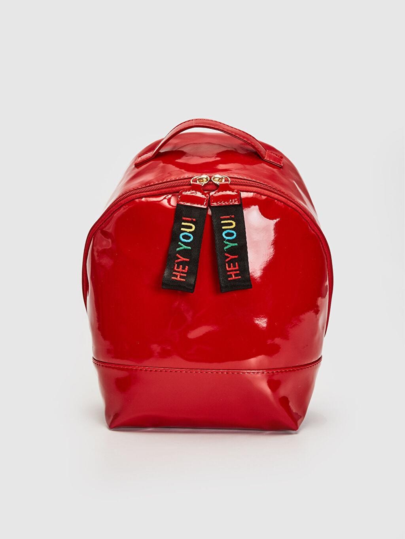 Kırmızı Kız Çocuk Parlak Görünümlü Sırt Çantası 9WK322Z4 LC Waikiki