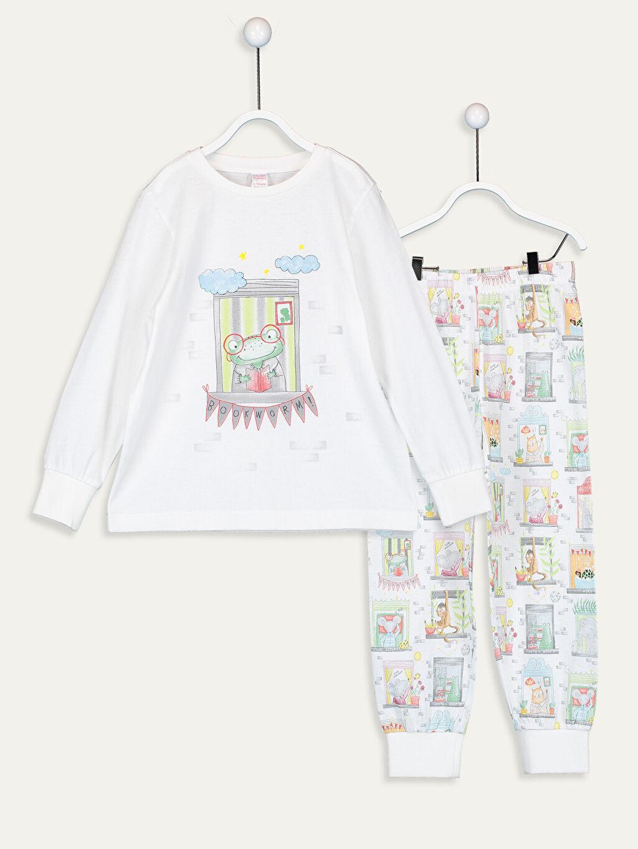 %100 Pamuk Standart Pijama Takım Günlük Süprem Erkek Çocuk Baskılı Pamuklu Pijama Takımı