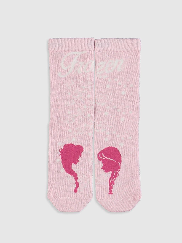 Kız Çocuk Frozen Baskılı  Soket Çorap 3'lü