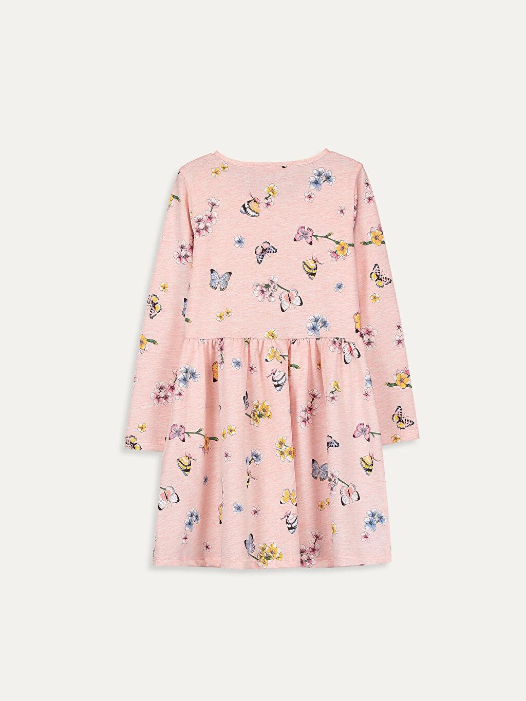 Kız Çocuk Kız Çocuk Çiçek Desenli Elbise