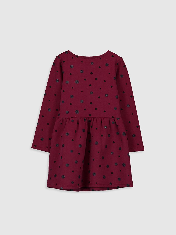 %96 Pamuk %4 Elastan Baskılı Peplum Elbise İki İplik Mini Bebe Yaka Kız Çocuk Baskılı Pamuklu Elbise