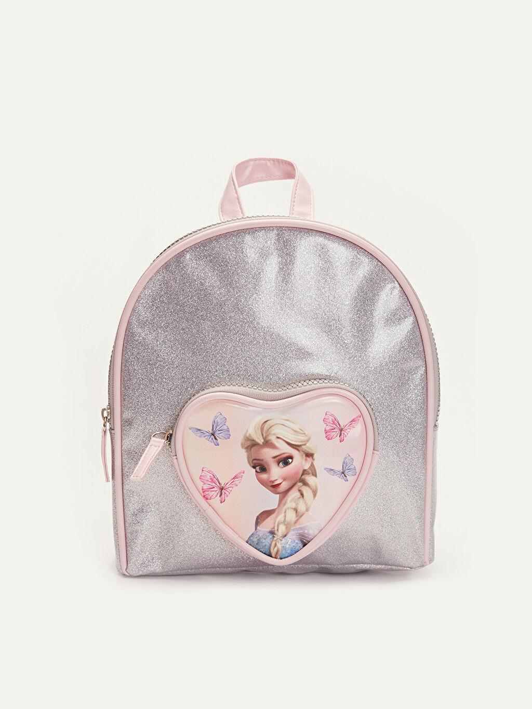 Gri Kız Çocuk Frozen Elsa Sırt Çantası 9WM315Z4 LC Waikiki