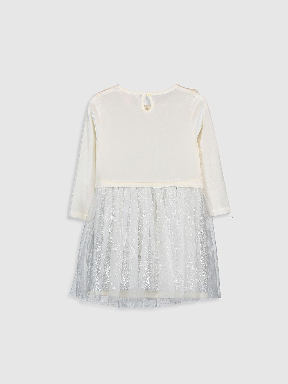 %93 Polyester %7 Elastan %100 Polyester Elbise Belden Oturtma Bebe Yaka Kadife Düz Diz Üstü Kız Çocuk Kadife Tüllü Elbise