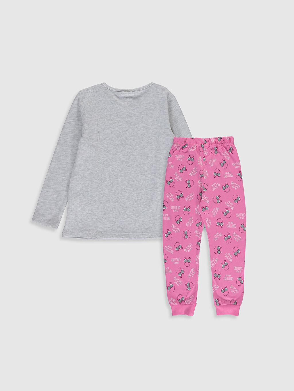 %49 Pamuk %51 Polyester Süprem Standart Pijama Takım Kız Çocuk Baskılı Pijama Takımı