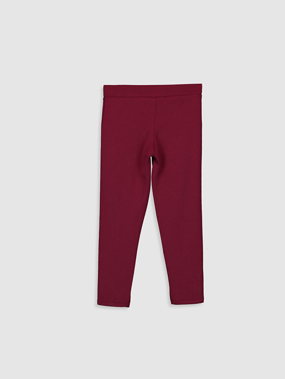 %26 Polyester %70 Viskoz %4 Elastan Düz Tayt Çelikli İnterlok Normal Bel Uzun Standart Kız Çocuk Uzun Tayt